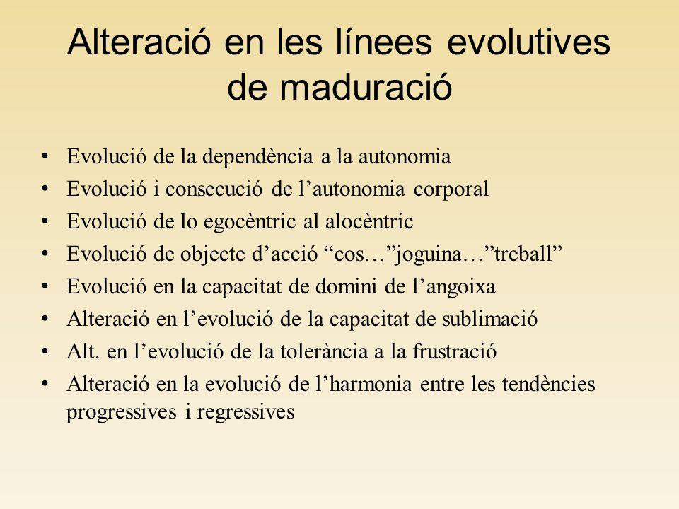 Alteració en les línees evolutives de maduració