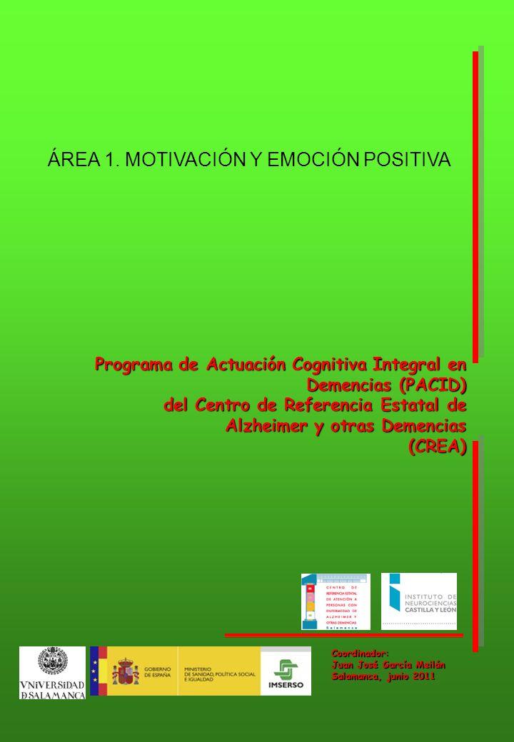 ÁREA 1. MOTIVACIÓN Y EMOCIÓN POSITIVA
