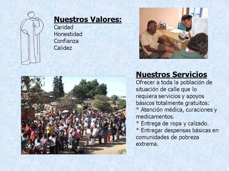 Nuestros Valores: Nuestros Servicios Caridad Honestidad Confianza