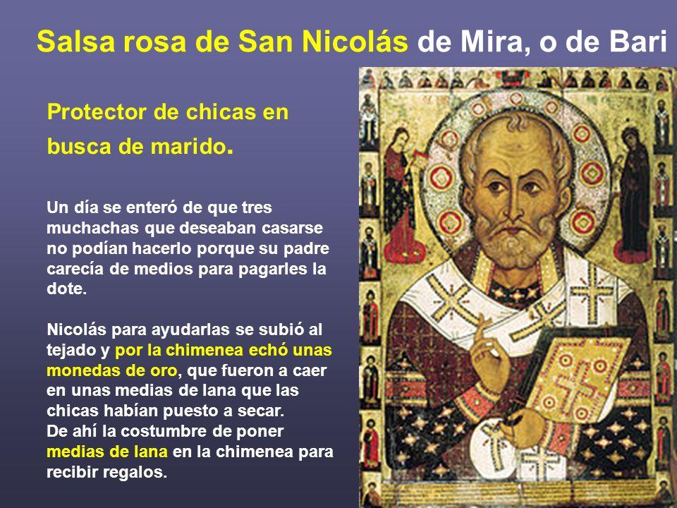 Salsa rosa de San Nicolás de Mira, o de Bari