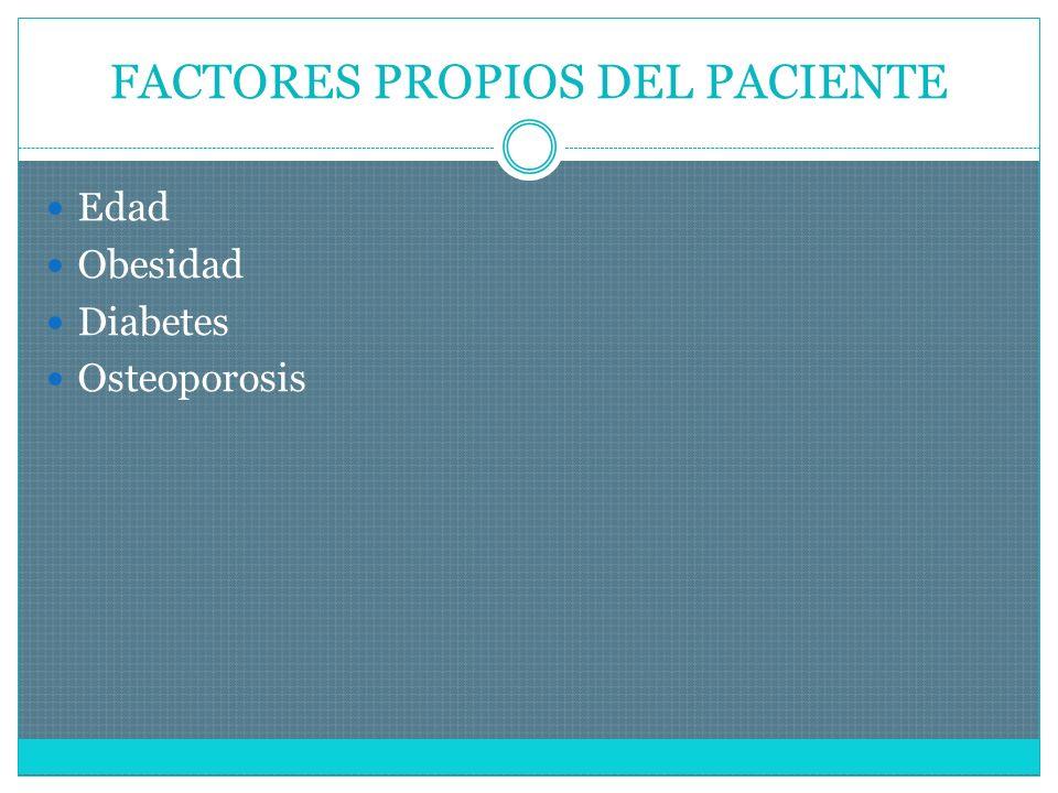 FACTORES PROPIOS DEL PACIENTE