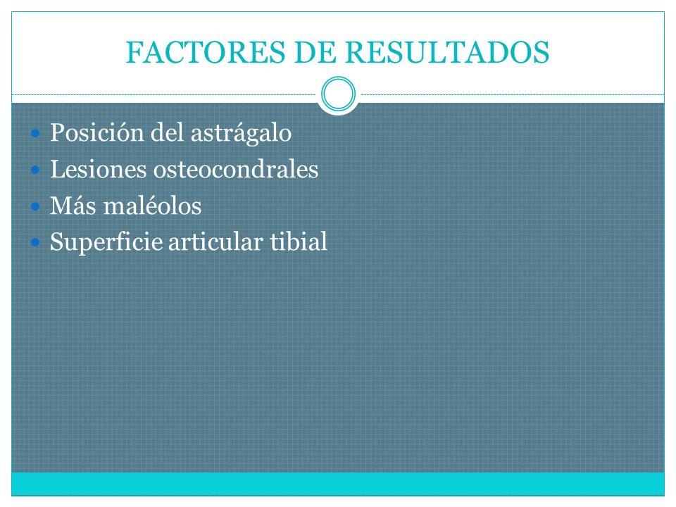 FACTORES DE RESULTADOS