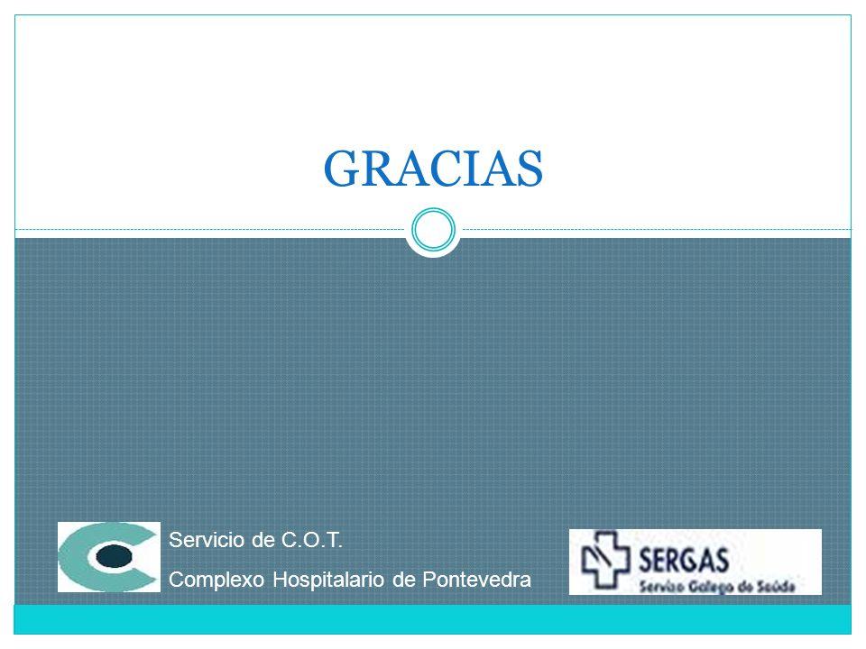 GRACIAS Servicio de C.O.T. Complexo Hospitalario de Pontevedra