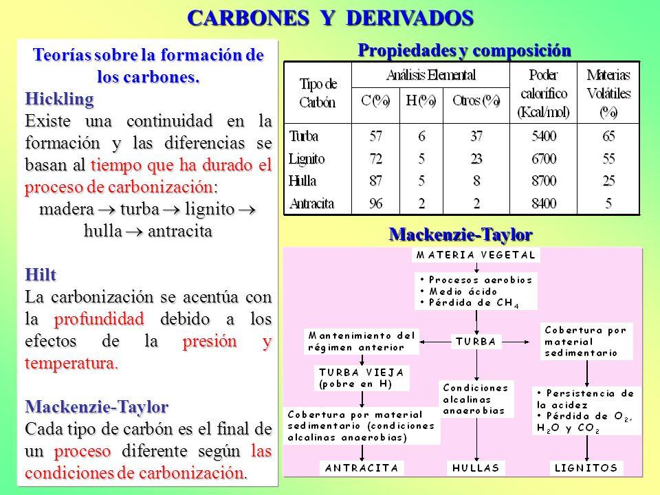 Teorías sobre la formación de los carbones.