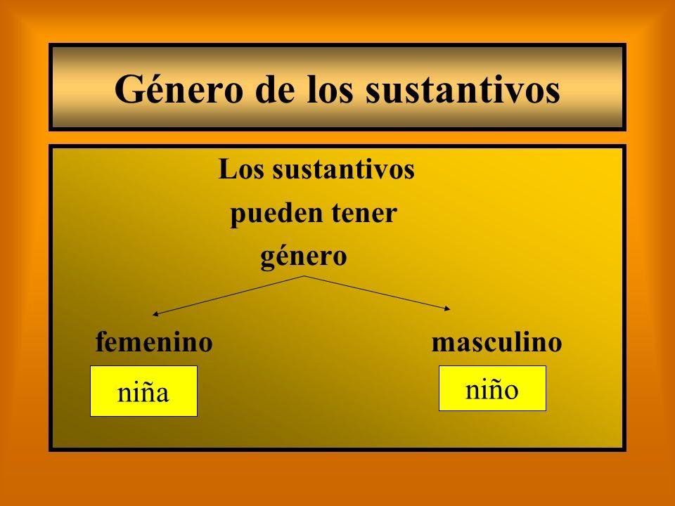 Género de los sustantivos