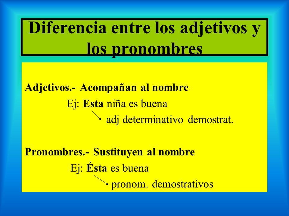 Diferencia entre los adjetivos y los pronombres