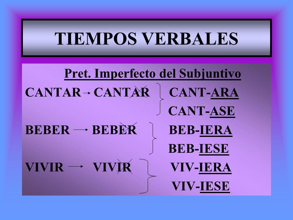 TIEMPOS VERBALES Pret. Imperfecto del Subjuntivo