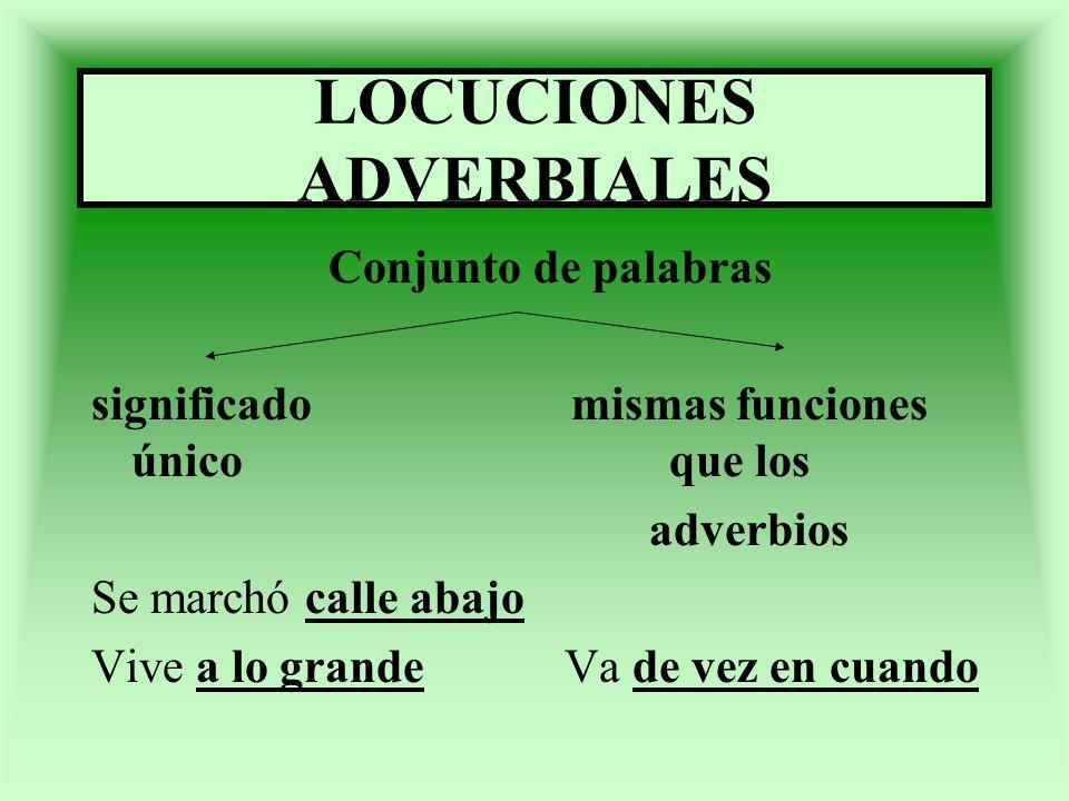 LOCUCIONES ADVERBIALES