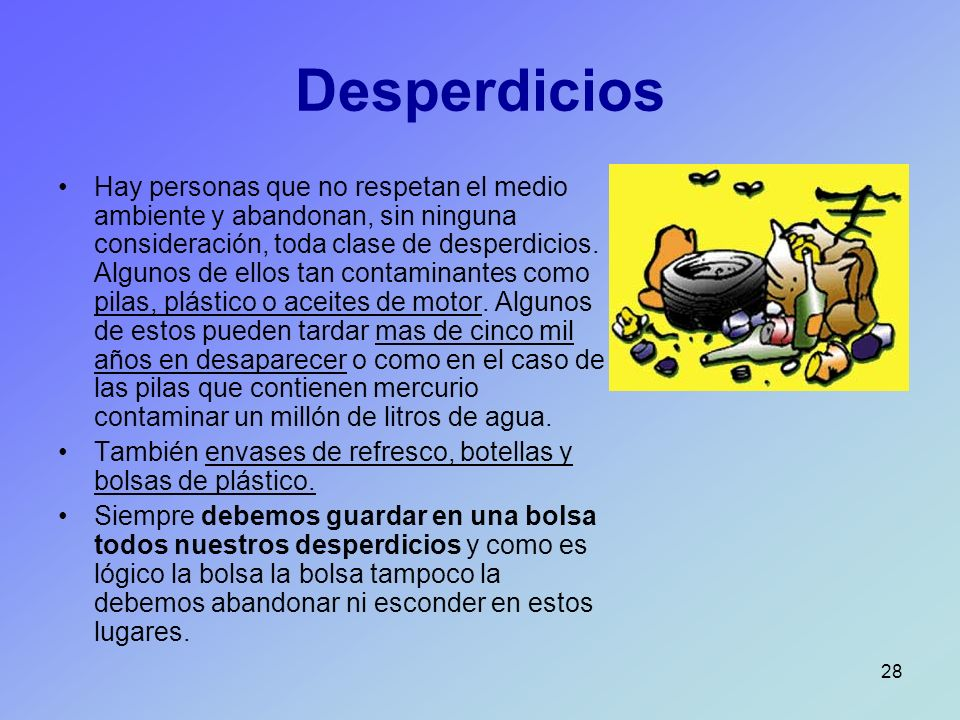 Desperdicios