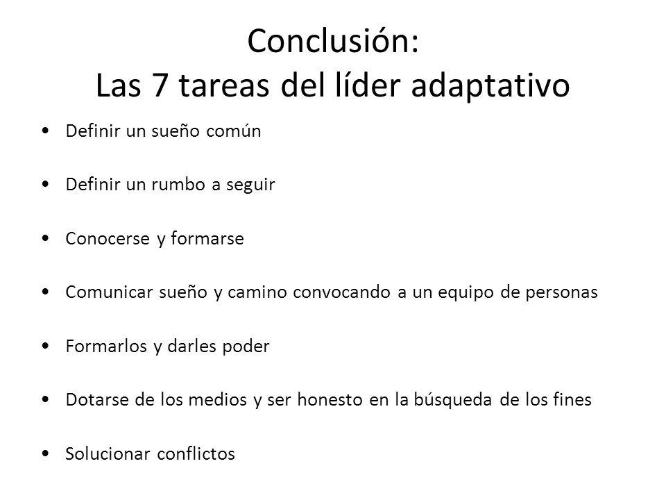 Conclusión: Las 7 tareas del líder adaptativo