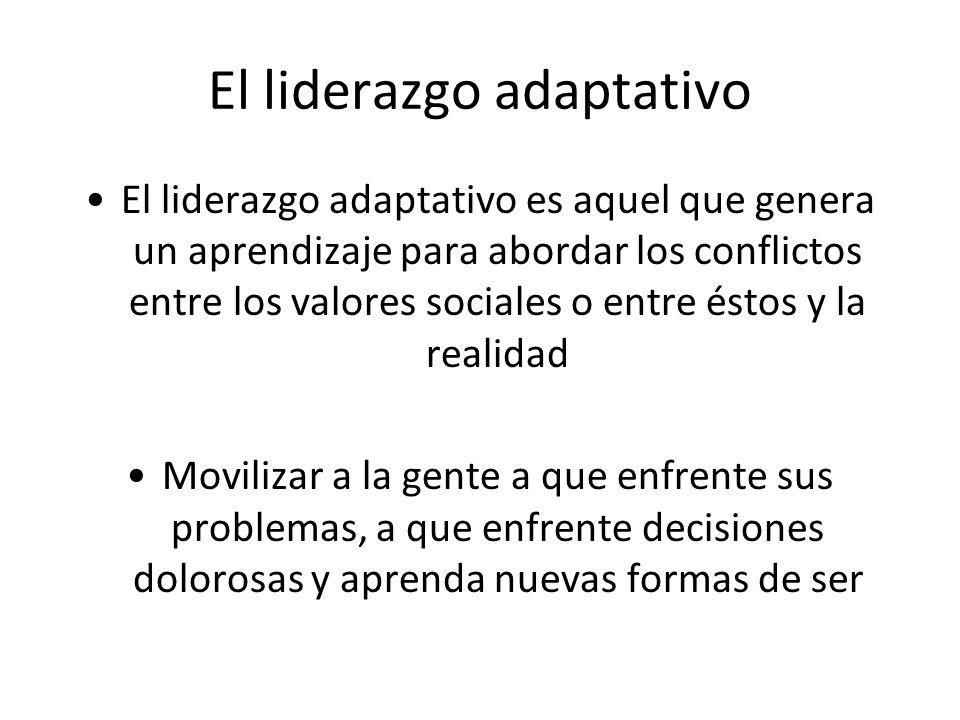 El liderazgo adaptativo