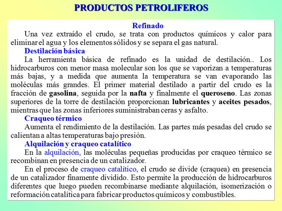 PRODUCTOS PETROLIFEROS