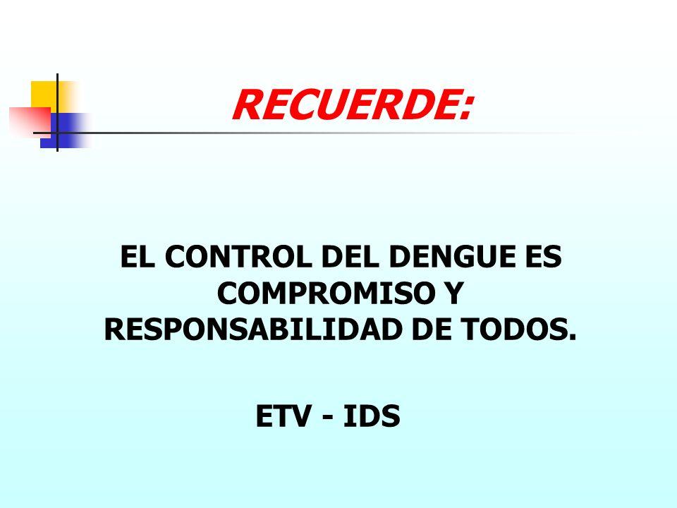 EL CONTROL DEL DENGUE ES COMPROMISO Y RESPONSABILIDAD DE TODOS.