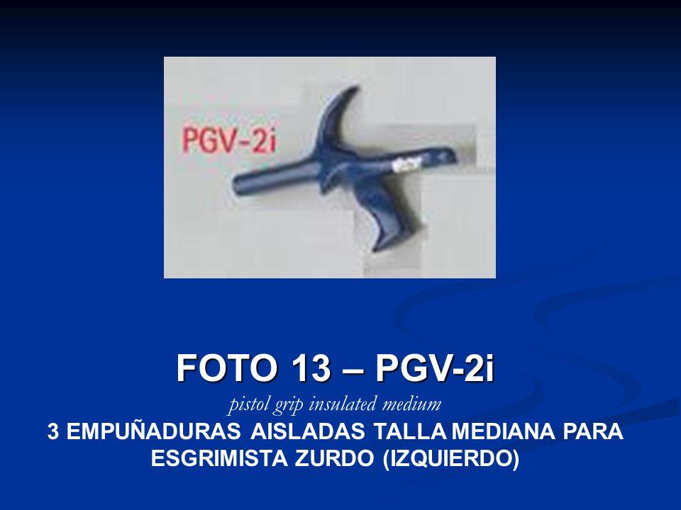 3 EMPUÑADURAS AISLADAS TALLA MEDIANA PARA ESGRIMISTA ZURDO (IZQUIERDO)