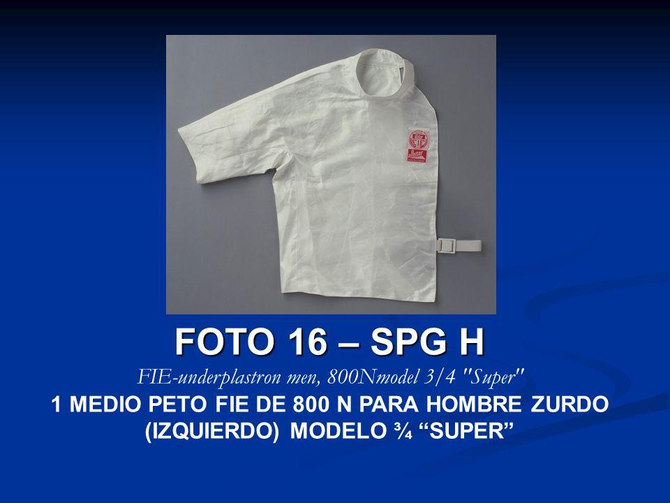 FIE-underplastron men, 800Nmodel 3/4 Super