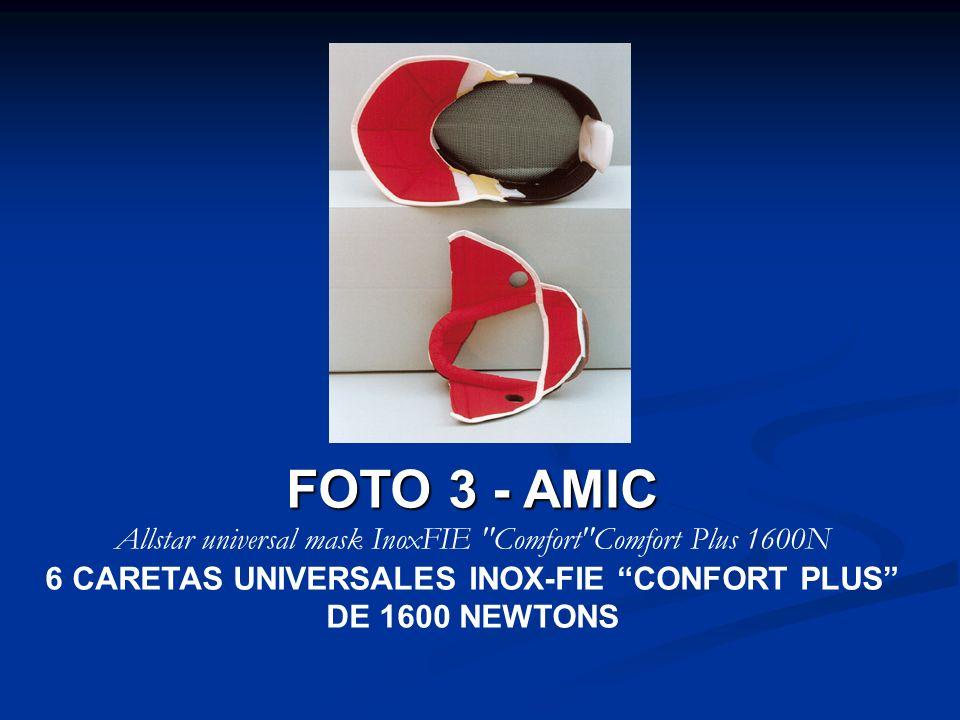 6 CARETAS UNIVERSALES INOX-FIE CONFORT PLUS DE 1600 NEWTONS