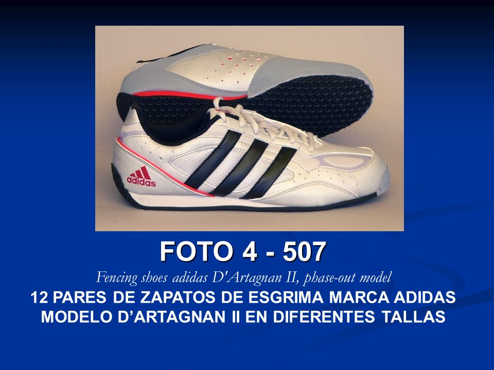 Fencing shoes adidas D Artagnan II, phase-out model