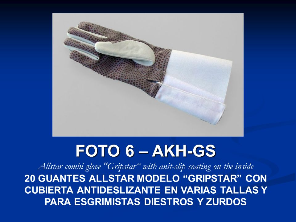 Allstar combi glove Gripstar with anit-slip coating on the inside