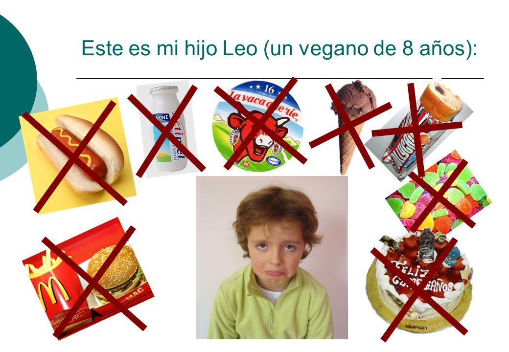 Este es mi hijo Leo (un vegano de 8 años):