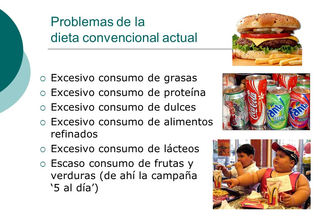 Problemas de la dieta convencional actual