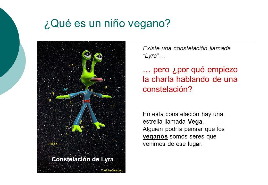 ¿Qué es un niño vegano Existe una constelación llamada Lyra … … pero ¿por qué empiezo la charla hablando de una constelación