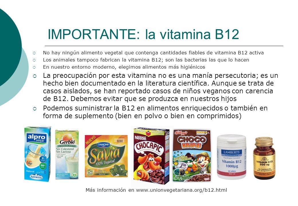 IMPORTANTE: la vitamina B12