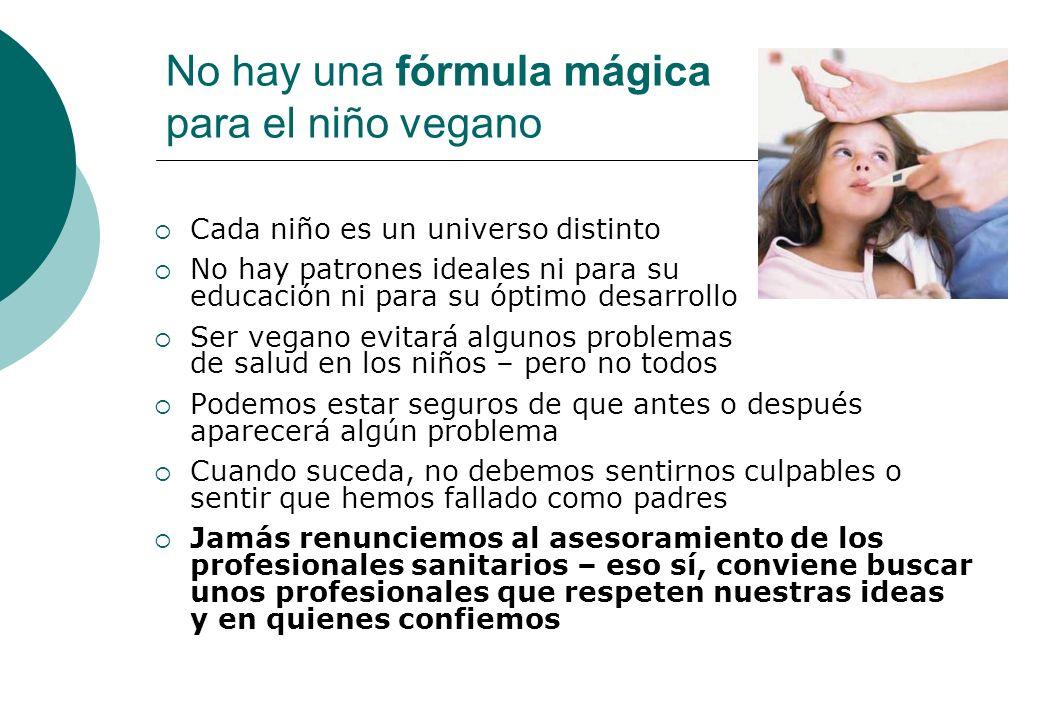No hay una fórmula mágica para el niño vegano