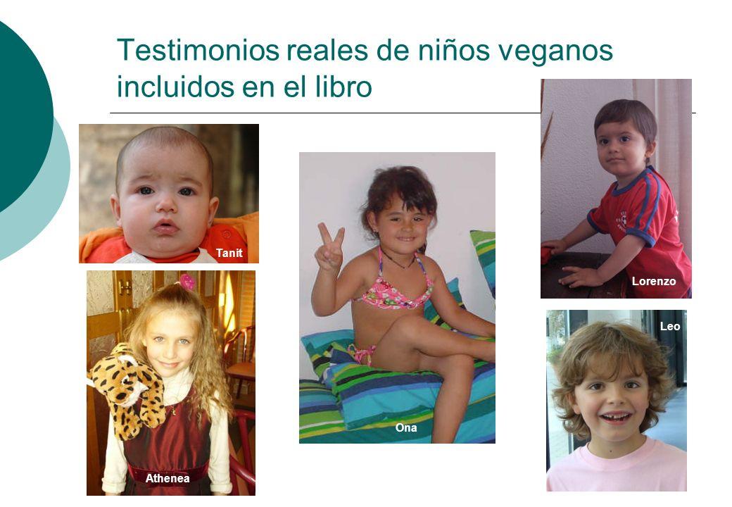 Testimonios reales de niños veganos incluidos en el libro