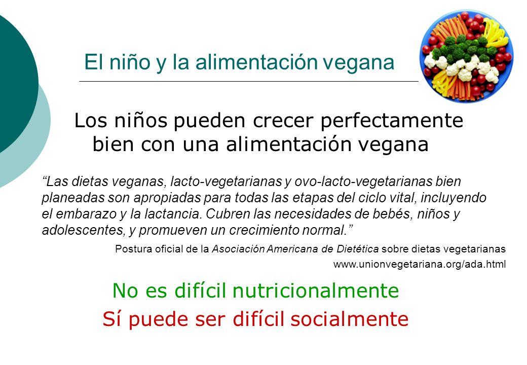 El niño y la alimentación vegana