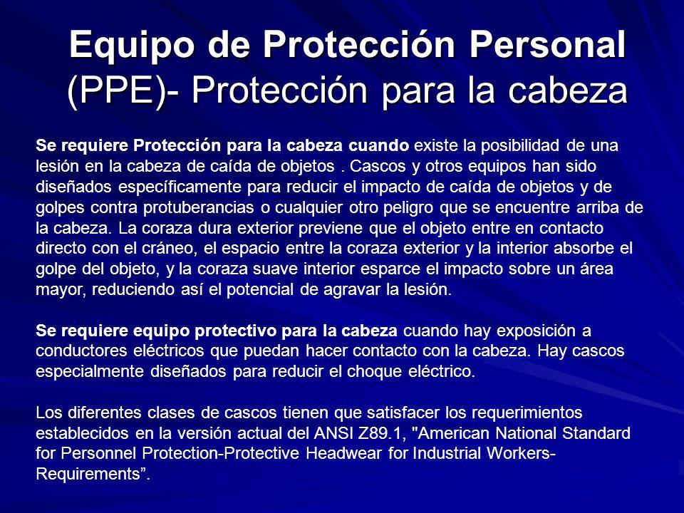 Equipo de Protección Personal (PPE)- Protección para la cabeza