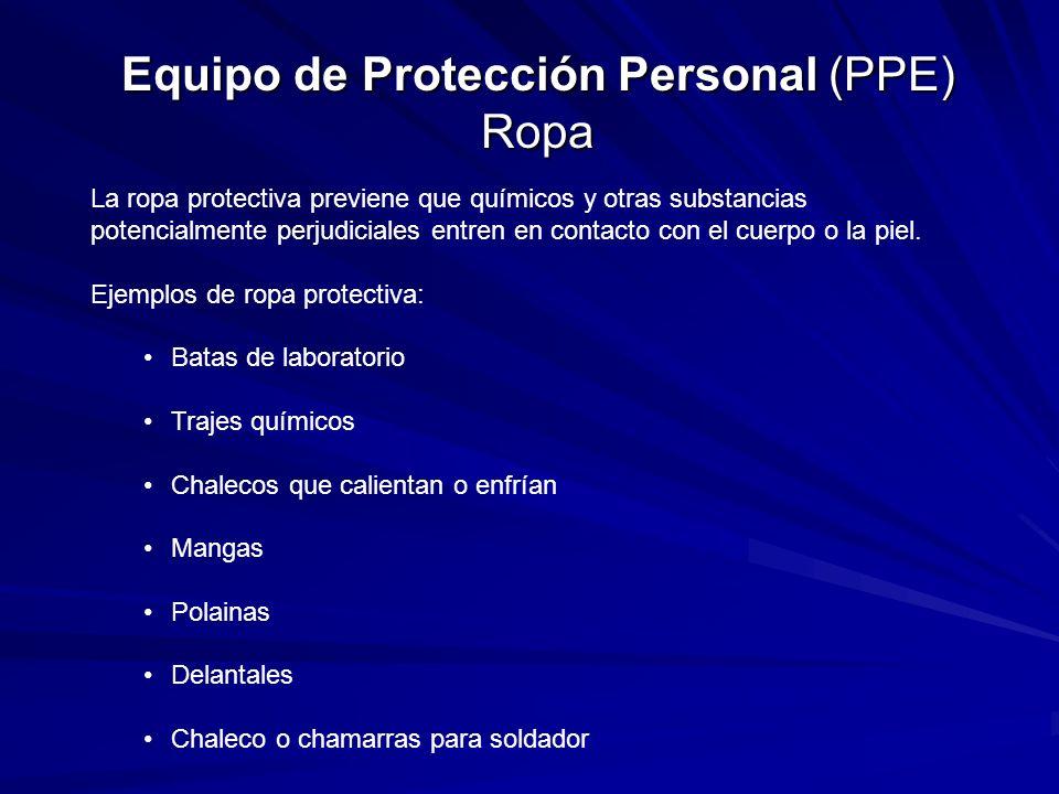 Equipo de Protección Personal (PPE) Ropa