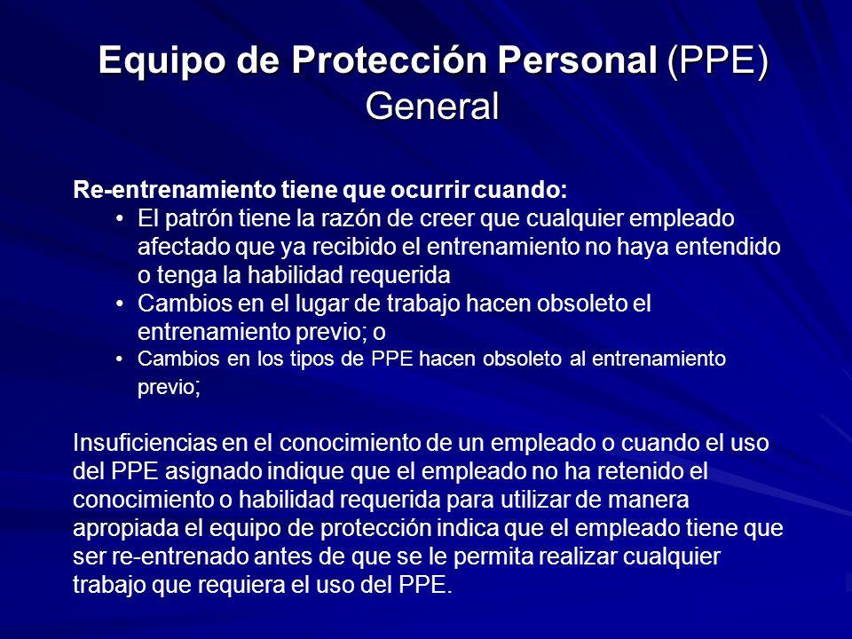 Equipo de Protección Personal (PPE) General