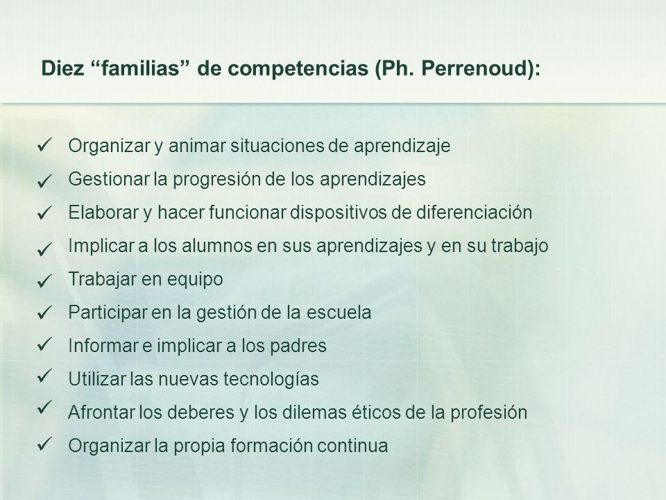           Diez familias de competencias (Ph. Perrenoud):
