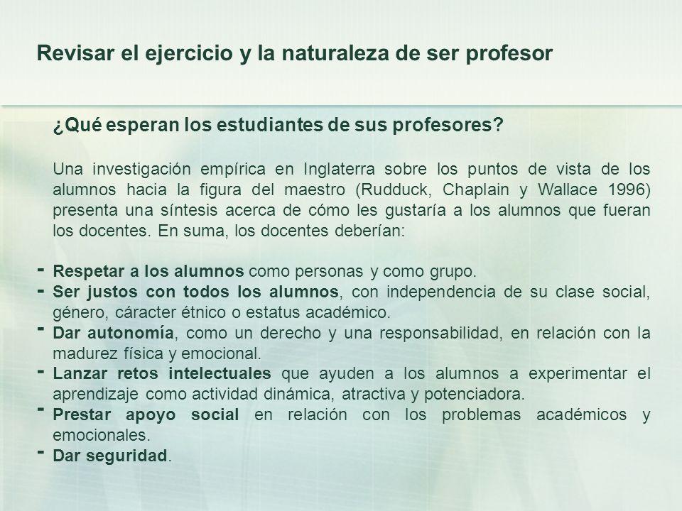 - - - - - - Revisar el ejercicio y la naturaleza de ser profesor