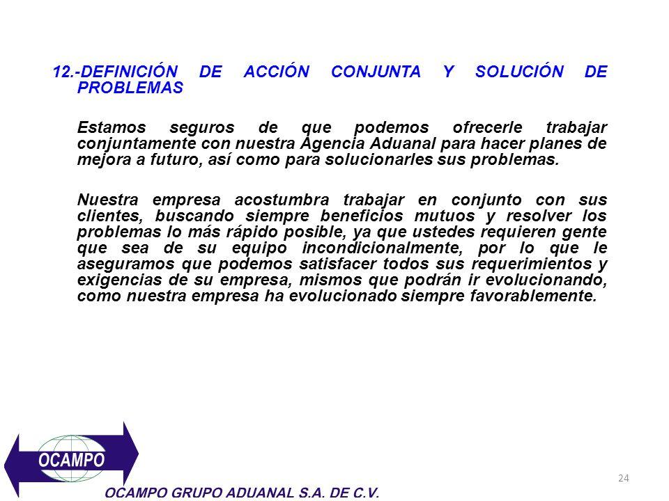 12.-DEFINICIÓN DE ACCIÓN CONJUNTA Y SOLUCIÓN DE PROBLEMAS