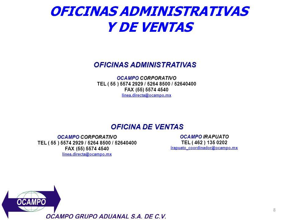 OFICINAS ADMINISTRATIVAS Y DE VENTAS