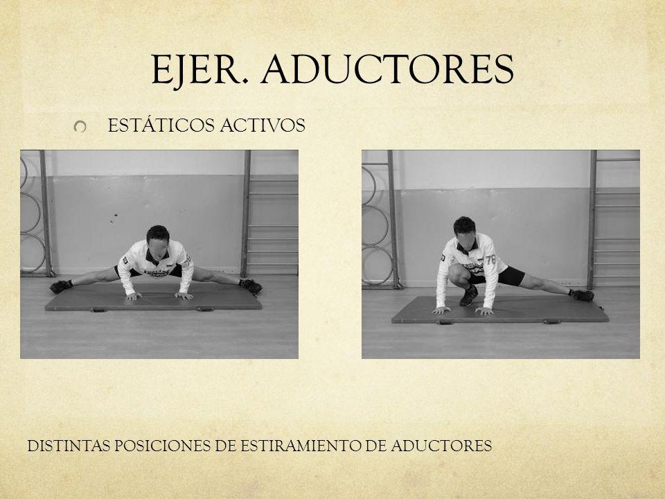 EJER. ADUCTORES ESTÁTICOS ACTIVOS