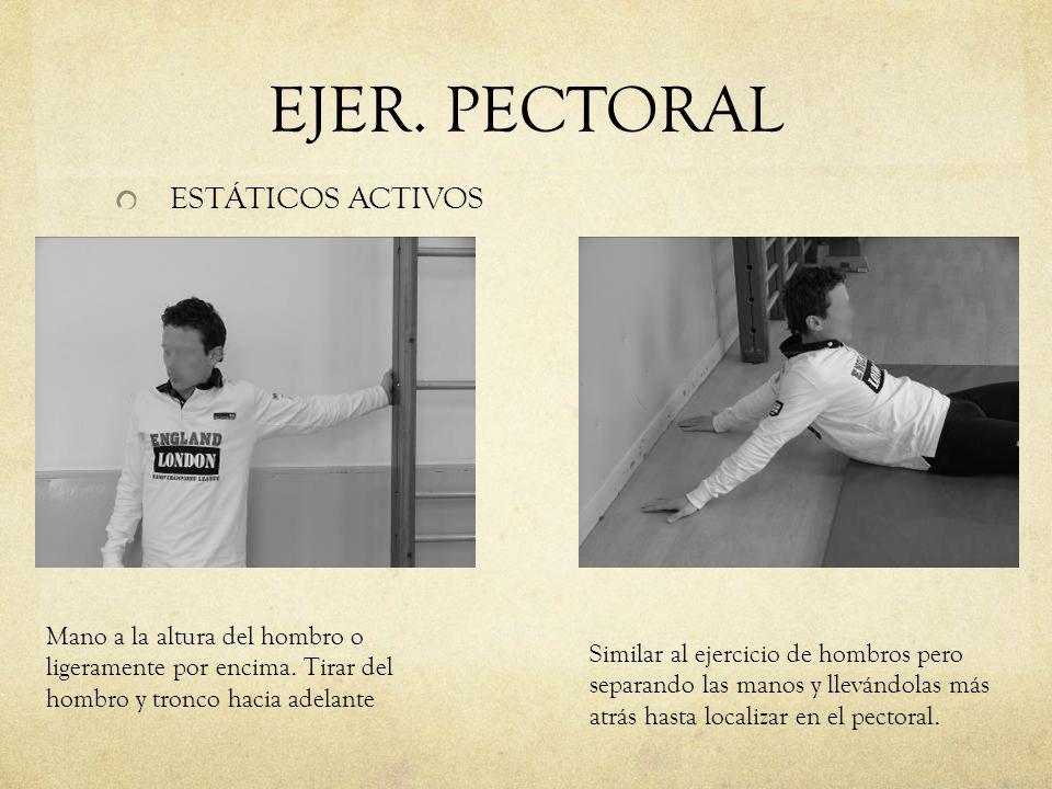 EJER. PECTORAL ESTÁTICOS ACTIVOS