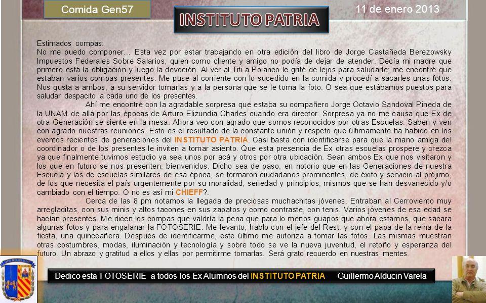 INSTITUTO PATRIA Comida Gen57 11 de enero 2013