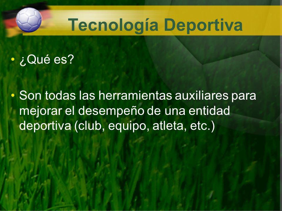 Tecnología Deportiva ¿Qué es