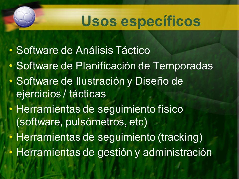Usos específicos Software de Análisis Táctico