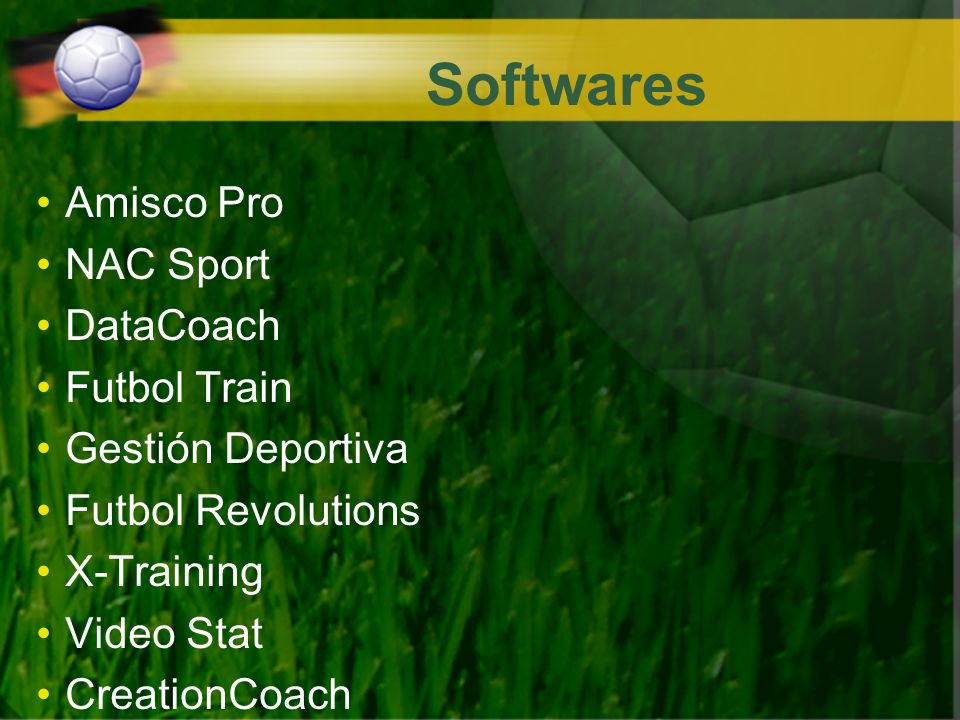 Softwares Amisco Pro NAC Sport DataCoach Futbol Train