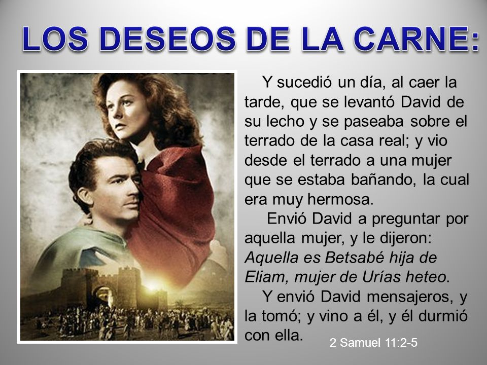 LOS DESEOS DE LA CARNE: