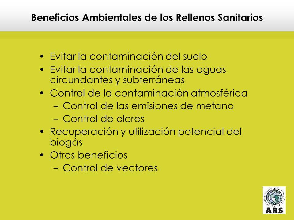 Beneficios Ambientales de los Rellenos Sanitarios