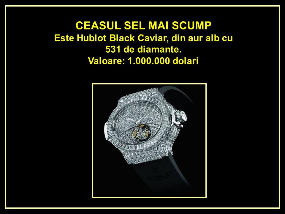 Este Hublot Black Caviar, din aur alb cu