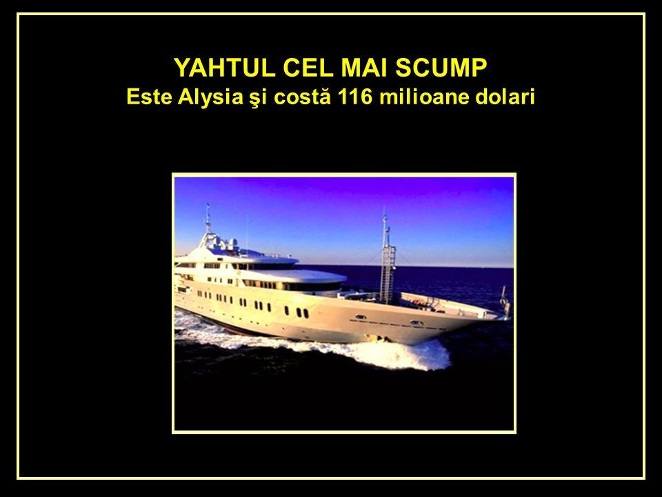EL YATE MAS CARO DEL MUNDO Es el Alysia de 116 millones de dólares.