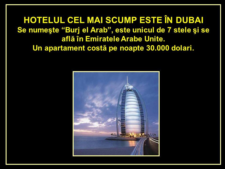 HOTELUL CEL MAI SCUMP ESTE ÎN DUBAI