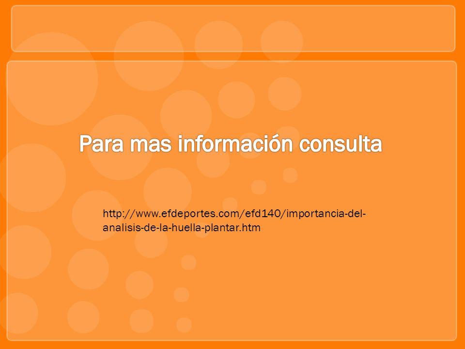 Para mas información consulta