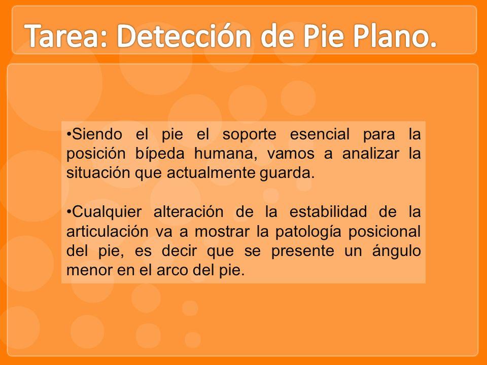 Tarea: Detección de Pie Plano.