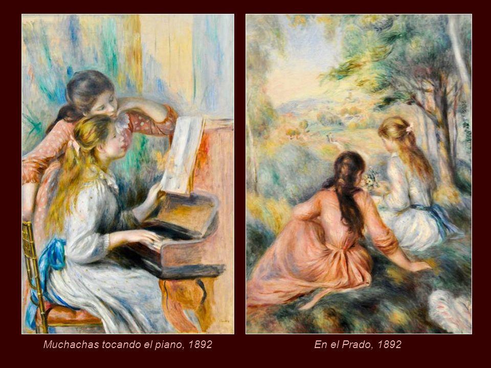 Muchachas tocando el piano, 1892
